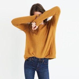 Madewell Mustard Riverside Textured Knit Sweater